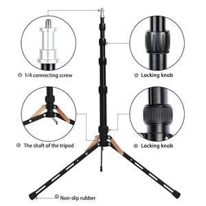 Image 3 - Fosoto FT 140 support de lumière Led trépied Portable pour éclairage photographique Flash parapluies réflecteur Photo Studio appareil Photo téléphone