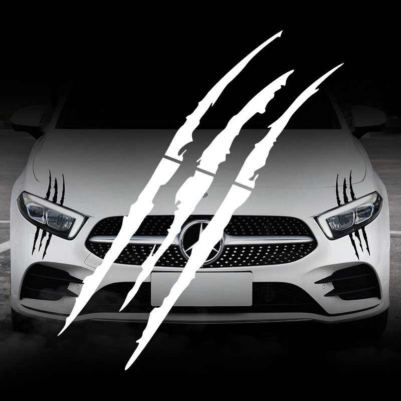 Image 3 - Car Sticker Headlight Fashion Reflective Car Stickers Auto Waterproof Decal For Auto Car Motorcycle Body Styling Accessories-in Car Stickers from Automobiles & Motorcycles