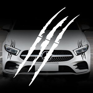 Image 3 - Car Sticker Headlight Fashion Reflective Car Stickers Auto Waterproof Decal For Auto Car Motorcycle Body Styling Accessories