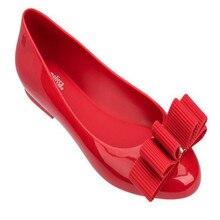 Melissa Clothes Bow Parent-child Shoes Women Jelly Sandals 2019 New Non-slip