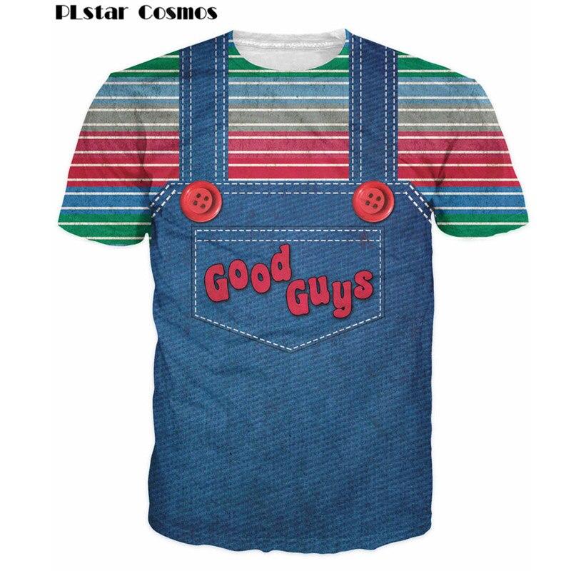 PLstar Cosmos Halloween Chucky T-Shirt The Evil Good Guys Toy 3D Printed T Shirt Women/Men Harajuku t shirt tees Summer tops 5XL