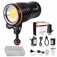 ARCHON DM60 WM66 Underwater Dive Video 12000 lumens LED Flashlight Torch with battery pack and charger