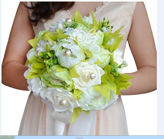 2017 Невесты Свадебный Букет Люкс Дешевые Свадебные Цветы Свадебные Букеты Искусственные Свадебный Букет Роз