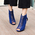 Plus Size 34-46 sexy woman Thin Heels open toe women sandals gladiator high heel sandal boots stiletto heels pumps summer shoes