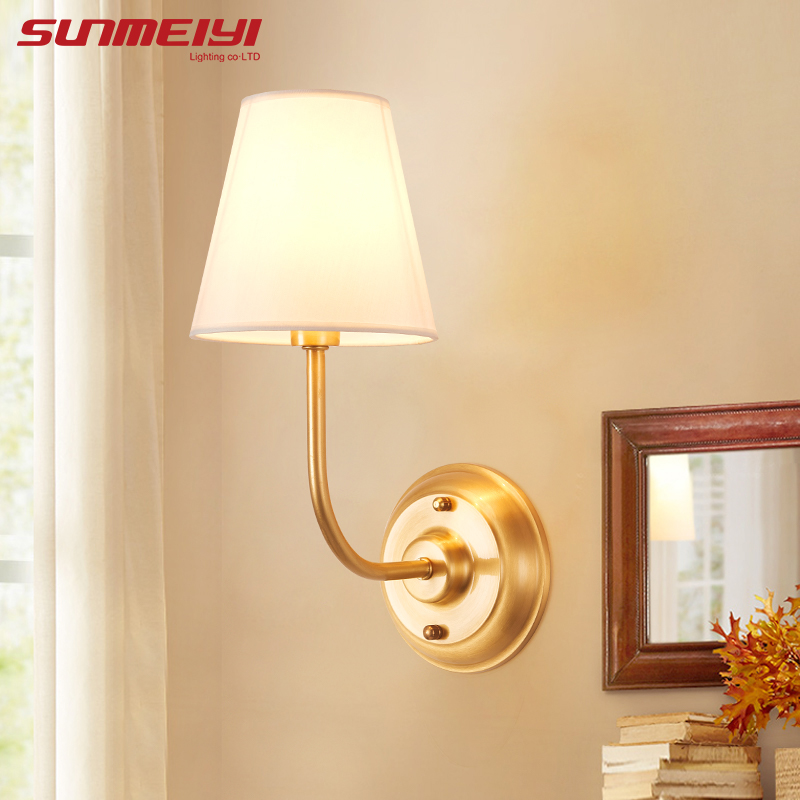 New Indoor Wall Sconce For Reading Bedroom Living room LED Wall Lamps modern apliques de pared With Lampshade Lights Fixture