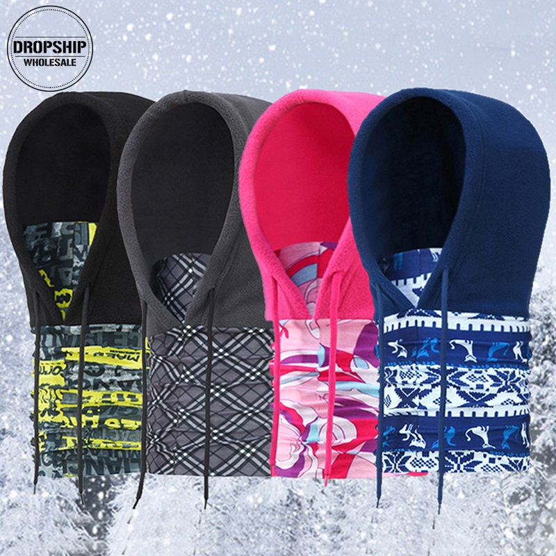 Warm Winter Full Face Scarf Women Men Windproof Mask Hoodie Balaclava Ski Neck Bandana Cap Outdoor Sport Warm Hood Bibs Scarves asumer black orange square toe shallow ladies pumps thick heel spring auutmn women suede leather high heels shoes big size 33 43