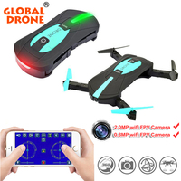 2 4GHz Foldable Mini RC Drone Selfie Dron With HD Camera Altitude Hold Headless WiFI FPV