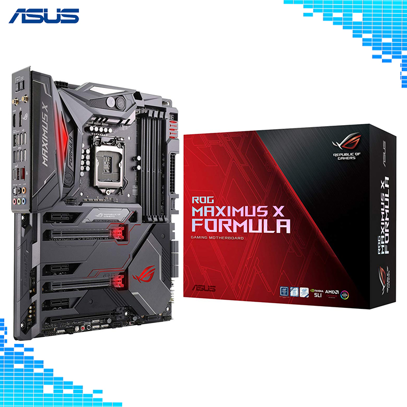 ASUS ROG Maximus X Formula LGA1151 DDR4 DP HDMI M.2 Z370 ATX Gaming Motherboard with onboard 802.11AC WiFi and USB 3.1 цена 2017