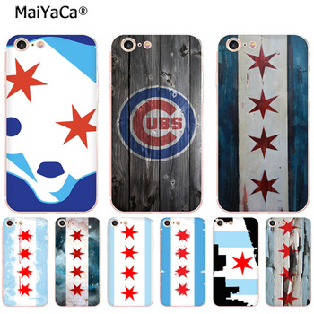 MaiYaCa Old Chicago Flag soft tpu phone case cover for iPhone 8 7 6 6S Plus X XSMAX XR 5 5S SE 11pro max case funda image