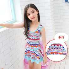 Children swimwear Girl One Piece Swimsuit Korea style Swimwear Bathing Suits Swimming One-Piece suits sweet  sexy swimsuit