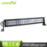 LDRIVE 5D 22 Inch 200W Curved LED Work Light Bar For Work Indicators Driving Offroad Boat