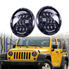 Black 7 Inch 90W LED Headlight Fog Lamp DRL For Jeep Wrangler JK CJ TJ Hummer