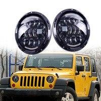 Black 7 Inch 90W LED Headlight Fog Lamp DRL For Jeep Wrangler JK CJ TJ Hummer