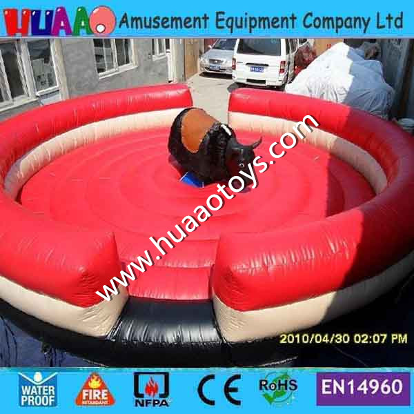 Free shipping inflatable mechanical bull mat/mattress ( with blower but without bull) 5 5m inflatable twister funny games 0 5mm pvc inflatable twister mattress with free air blower