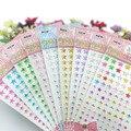 de flores de papel de Diy arte de cristal de acrílico Scrapbooking pegatinas creativo pasta de diamante, estrella de cinco punta