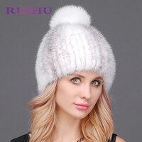 Winter Hoed Vrouwen Vallen Mode Russische Hoed Nertsen Bont Met bal Caps Hairball Hoeden Warm Gehoorbescherming Wol Volwassen Effen hoed