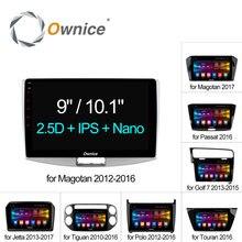 "Ownice C500 + Octa Core 10.1 ""/9"" Android 6.0 Radio de Coche dvd GPS Para VW Magotan POLO PASSAT Golf 7/R/GTE Tiguan Touran Jetta"