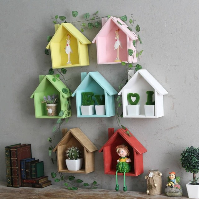 Aliexpress American Country Retro Color Small Room Bedroom Door Wall Shelf Hanging Items From Reliable Decorative Shelves Suppliers On