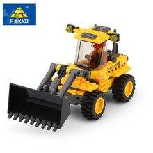117 ps Da Cidade o Desenvolvimento Intelectual Construção Bulldozer KAZI Mini Bloco de Construção Montadas Action Figure Brinquedos Educativos