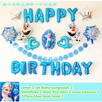 Elsa Frozen Birthday Balloons Combinations Frozen Happy Birthday Foil Balloons Party Decorative Letter Balloons