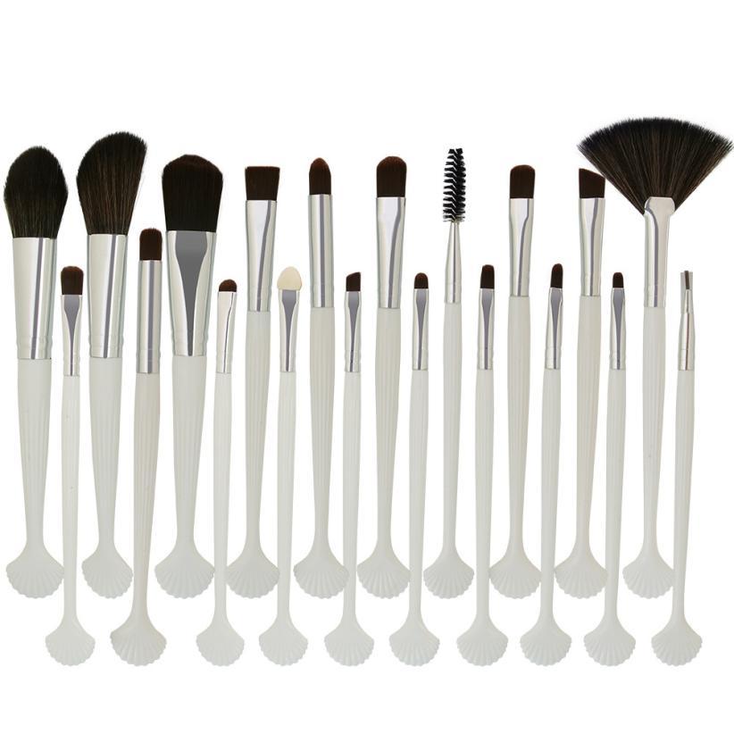 2018 hot sale Makeup Brush 20pcs Cosmetic Makeup Brush Blusher Eye Shadow Brushes Set Kit health 18Feb 19