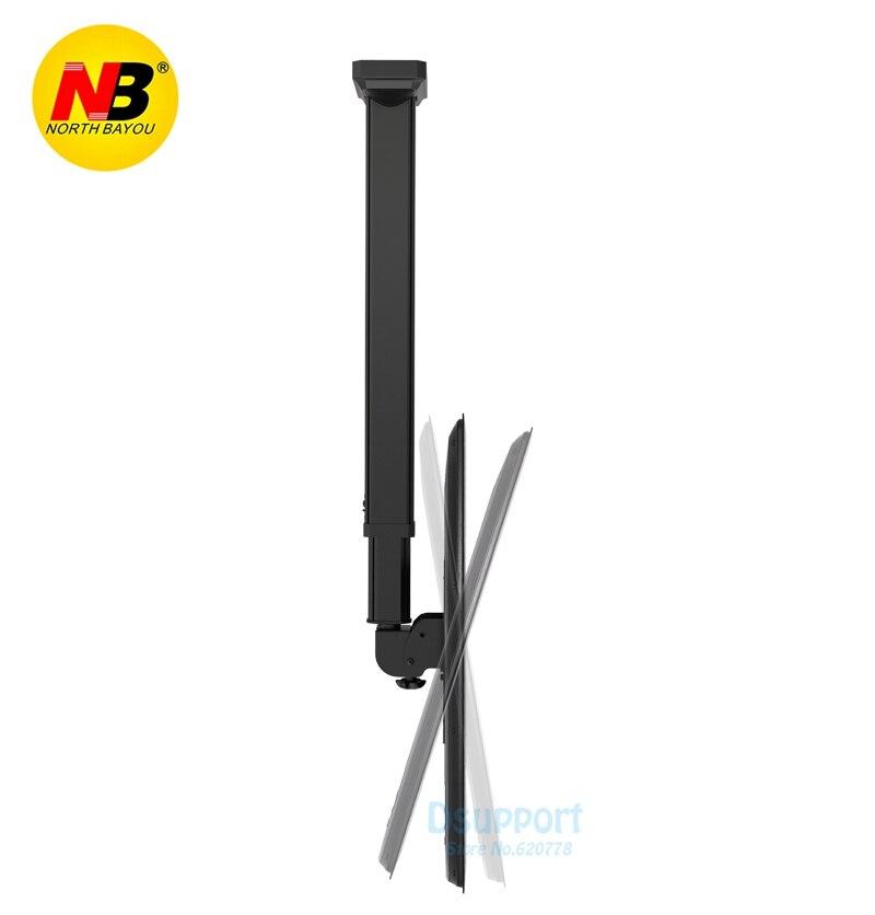 NB T7030 Full Rotating height Adjustable 1650-3000mm for 32-70 Ceiling TV Mount Bracket LED LCD Monitor Holder