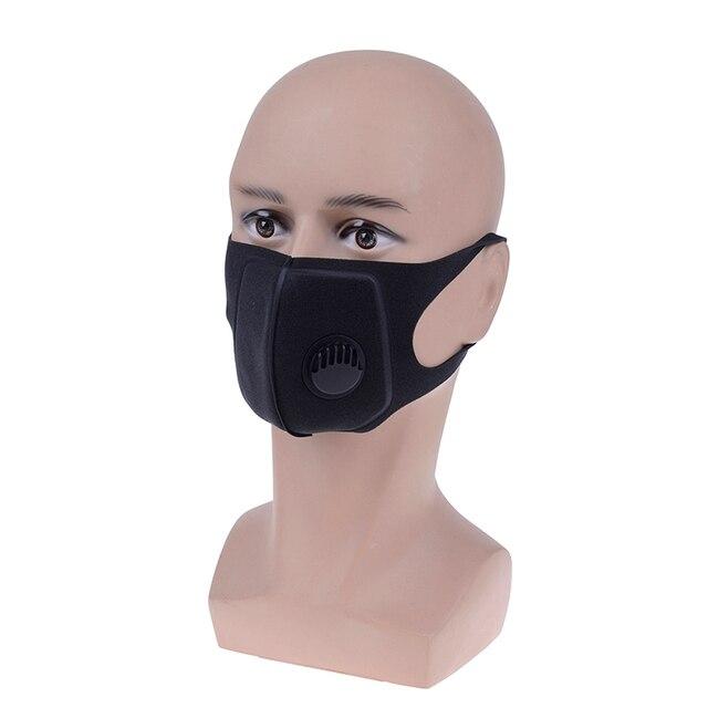 1pcs Sponge Anti Dust Mask Breathing Valve Anti-fog Haze Masks Muffle Anti Germs Flu Fashion Unisex Washed Reusable Mask 2