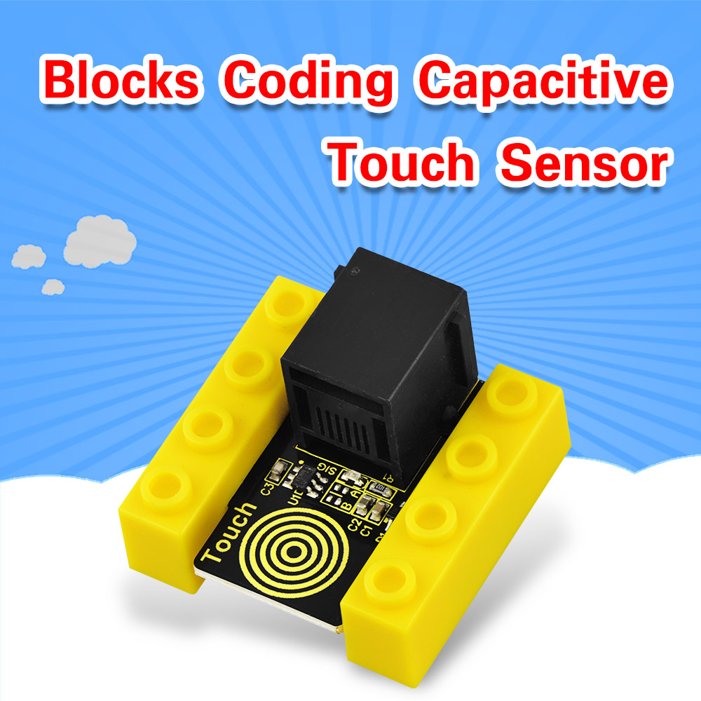 Kidsbits Blocks Coding Capacitive Touch Sensorfor Arduino STEAM EDU (Black And Eco Friendly)