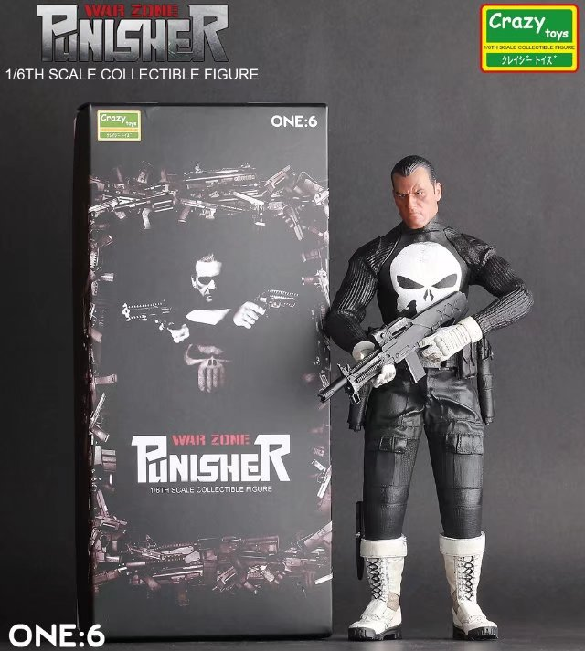 Crazy Toys 1:6 War Zone Punisher Pvc Action Collectible Figure Model Toy 12inch 30cm the punisher action figures 1 12 scale pvc action figure collectible model toy anime punisher superhero toys