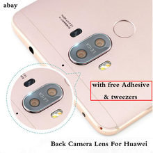 Rear Back Camera Lens Glass cover with original sticker or 3M glue stickers For Huawei 6 6X Mate10 Lite 8 9 Ascend P7(China)