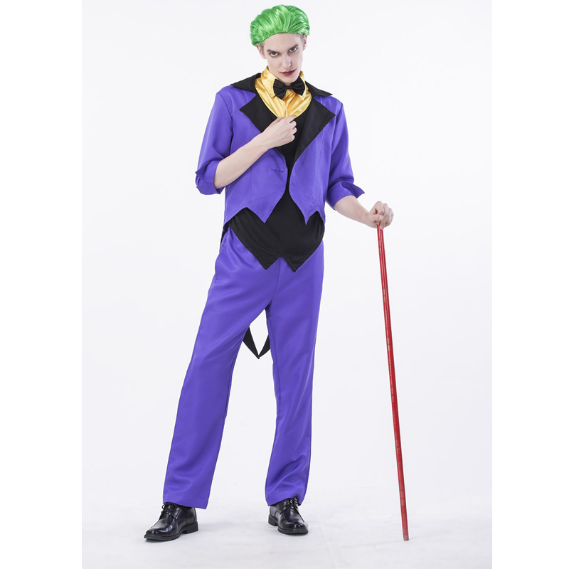 SESERIA New Promotional Halloween Costume Adult Clown Costume Magic Show Clothing Masquerade Costumes