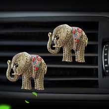 Elephant shaped car air freshener perfume Perfume clip for air conditioner outlet automobile air freshener bottle diffuser cute panda shaped car home perfume air freshener peach flavor