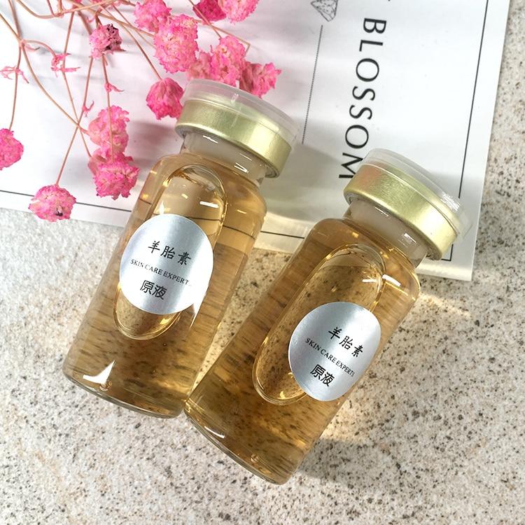 10ML Moisturizing And Anti - Aging Of The Essence Of Sheep Placenta Raw Liquid 5bottles