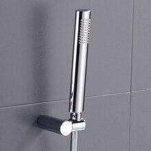 Латунный ручной душ хромированный ручной душевой набор с держателем и шлангом настенное крепление ручной держатель душевой головки