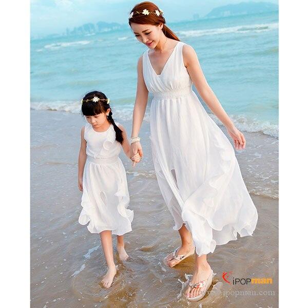 Designer Family clothing set! New Arrival 2015 Summer White ...