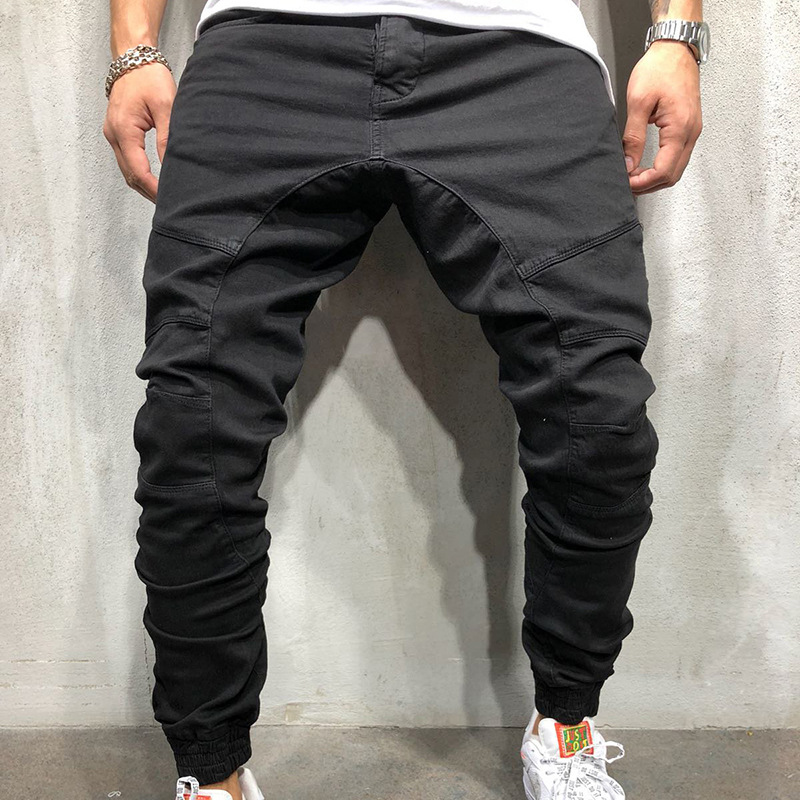 Brand 2019 Men's Trousers Woven Fabric Casual Trousers With Legs