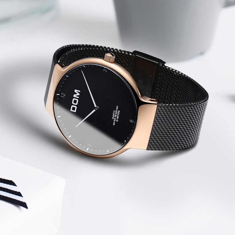 Relogio masculino marque de luxe montre-bracelet de sport analogique Ultra-mince courbe miroir hommes montre à Quartz montre d'affaires hommes montre