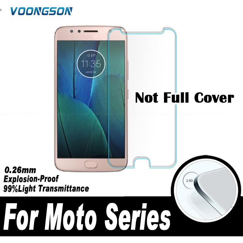 0 26mm 2 5D Screen Protector Protective Film For Motorola Moto X X4 X3 G5S E4 Plus USA Z2 Force M Tempered Glass For Moto C Plus in Phone Screen Protectors from Cellphones Telecommunications