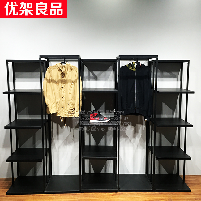 Wrought iron clothing rack, clothing shop, clothes rack, display rack, floor type women's clothing store, vintage shelf, clothes iron clothing display floor clothing rack clothing store shelf floor display rack shelf for men and women