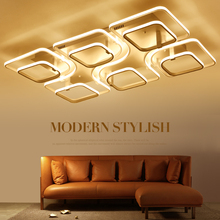 Super-thin Circel Rings Modern led ceiling chandelier lamp living room bedroom modern led ceiling chandelier lights SF100