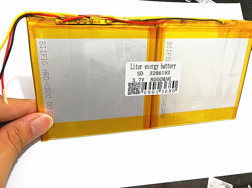 3.7V 8000mAh For X98 air P98 3G  v99i Tablet PC Battery 3 wire Perfect 3296192