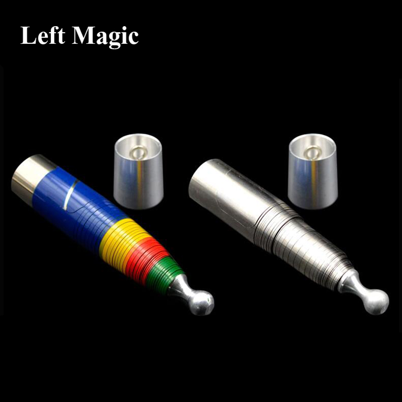 4 Colors Steel Metal Vanishing Cane Magic Tricks  Sliver Stainless Disappeared Stick  Shrink Bar Stage Gimmick For Magician