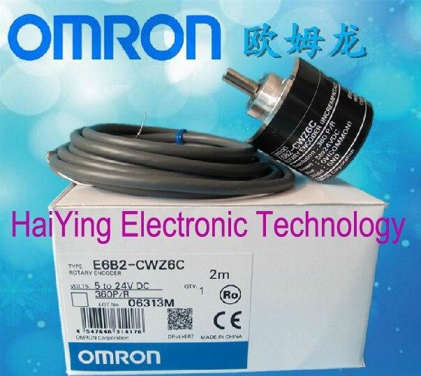ФОТО New and original E6B2-CWZ6C  OMRON  360P/R  5-24VDC   Incremental rotary encoder  Photoelectric rotary encoder