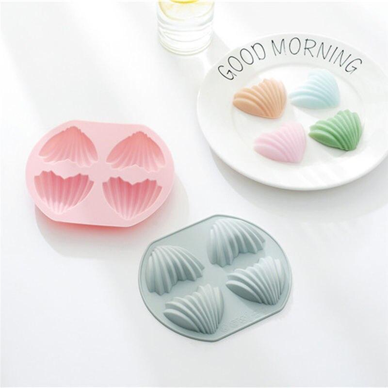 Heart-shaped shell silicone baking mold ice cube mold handmade soap pudding Chocolate Mould Ice Tray Mold Baking Tray 3D #3J15