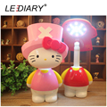 LEDIARY Hello Kitty LED Rechargeable Desk Lamp 3-Gear Switch USB Foldable Table Light for Student Flexible Length Reading Lamp