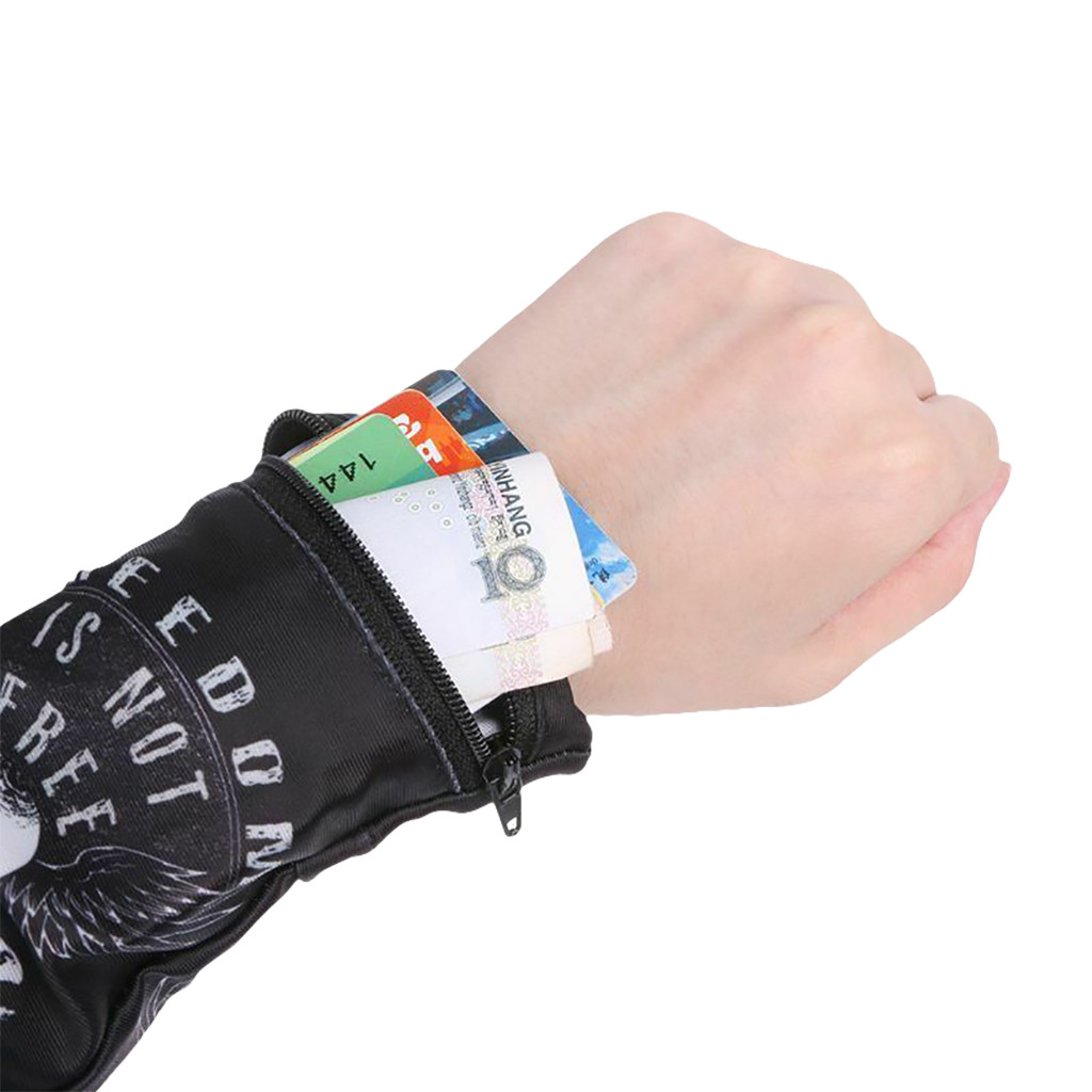 Wrist Wallet Purse Money-Bag Zipper Travel Band Lycra Casual Pouch Cycling-Safe Hot-Sale