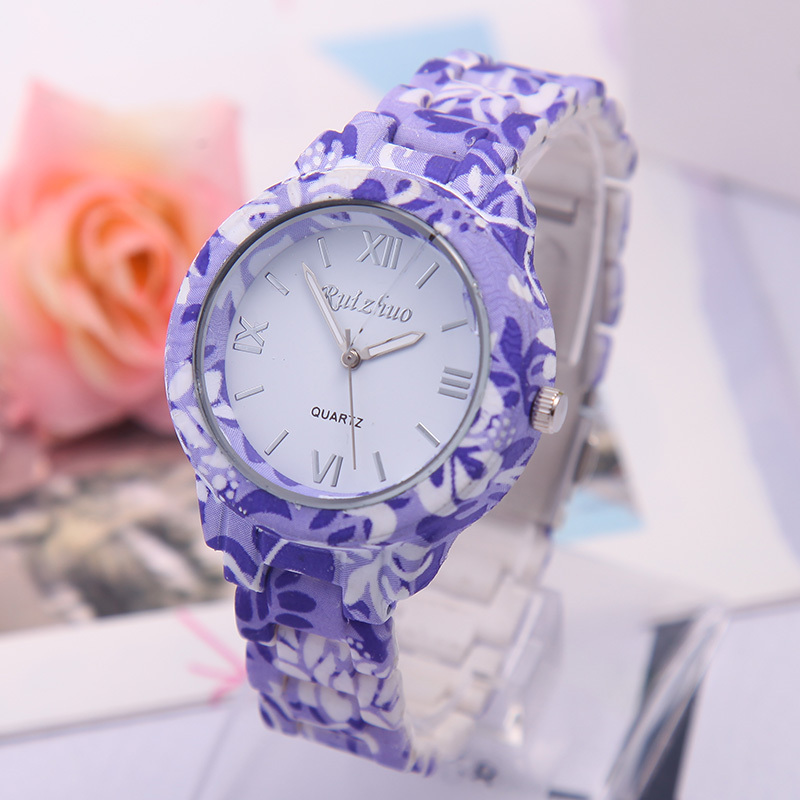 2015 New Design Soft Ceramic Printing Watches Women Clock Luxury ...