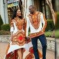Африканский Dashiki Платья Топ Моды Прямых Продаж Африканских Платье 2016 Национальная Ветер Печатные Длинными рукавами Осень мужская Футболка