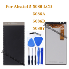 """5.7 """"display originale Per ALCATEL 5 5086 5086A 5086Y 5086D display LCD assembly + touch screen del telefono cellulare di riparazione accessori"""