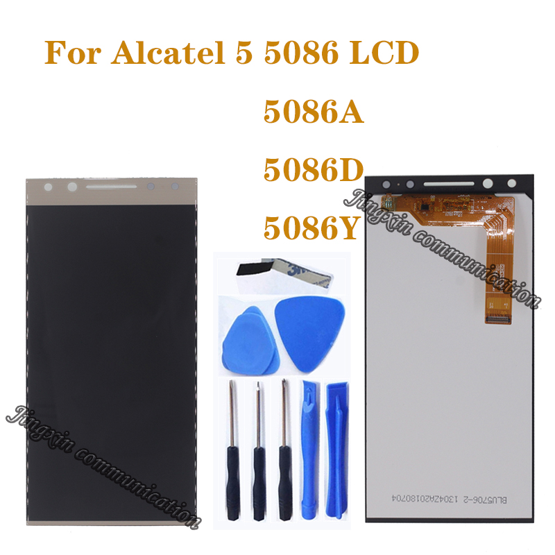 "5.7"" original display For ALCATEL 5 5086 5086A 5086Y 5086D LCD assembly display + touch screen mobile phone repair accessories-in Mobile Phone LCD Screens from Cellphones & Telecommunications"